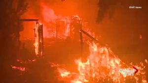 Hundreds of homes lost as California wildfires continue to grow