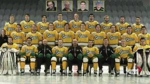 Humboldt Broncos pay tribute to teammates who died in bus crash after season opening game