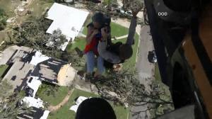 Hurricane Michael: Rescue crews air lift people stranded by storm in Florida's Panama City