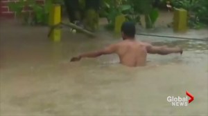 Severe flooding in Nicaragua as Nate blows through