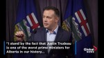 Alberta's Jason Kenney stands by comments on Trudeau, calls him 'one of the worst prime ministers for Alberta'