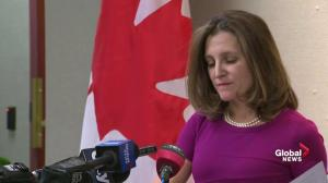 Freeland says U.S. tariff exemption does not change NAFTA negotiations