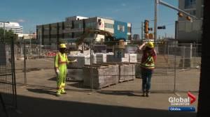 Downtown Edmonton residents call LRT construction 'hellish'