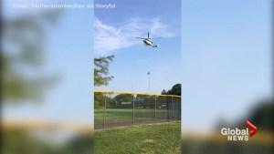 Medevac chopper arrives after GOP Congressman, aides shot at during baseball practice