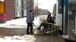 Slippery streets difficult for Montrealers with reduced mobility