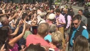 Justin Trudeau marches in Vancouver's Pride Parade