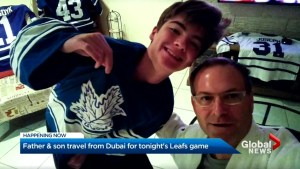 Father, son travel to see Toronto Maple Leafs from Dubai