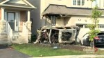 Driver arrested on suspicion of impaired driving after car slams into Brampton home, bursts into flames