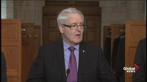 Transport minister denies claims gov't pressured Air Canada to buy Bombardier jets