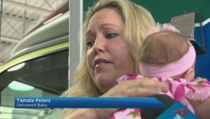 Edmonton Strangers celebrate unusual birth in grocery store parking lot