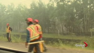 Wildfire crews battle Highway 20 hot spots