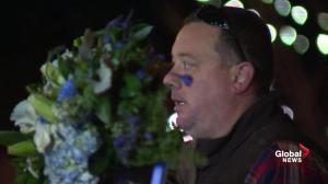 Fallen officer Ronil Singh's sergeant gets emotional at Newman vigil
