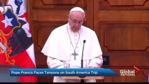 Pope Francis faces tensions on South American trip
