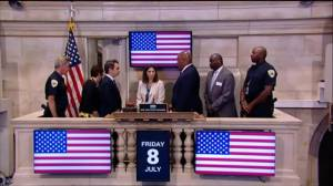 Moment of silence on floor of New York Stock Exchange to honour fallen Dallas police officers
