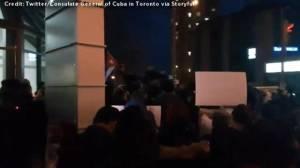 Vigil head outside Cuban consulate in Toronto in memory of Fidel Castro