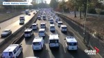 Ambulances block Paris highway to protest reforms