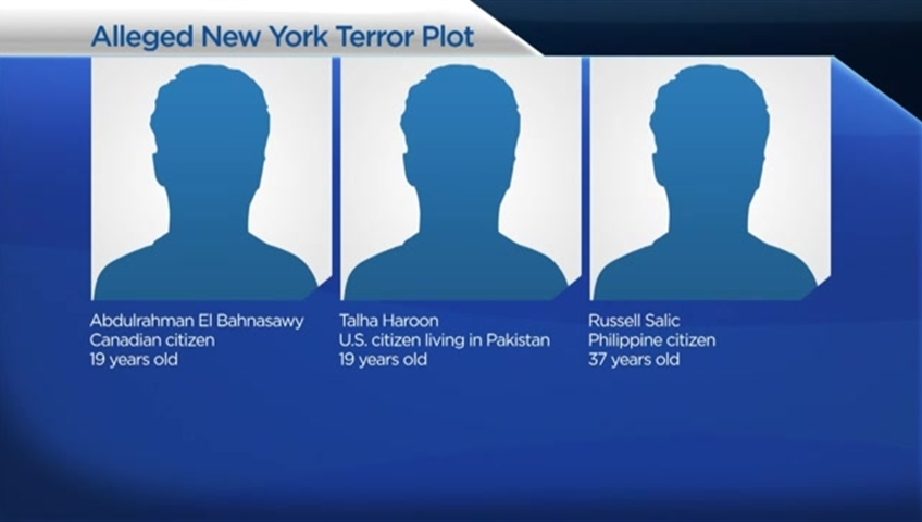 Three Men Charged for Plotting to Terrorize New York City
