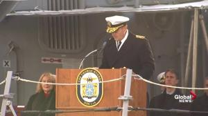 George H.W. Bush remembered during commissioning of USS Thomas Hudner