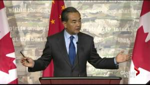 Chinese foreign minister criticized for lashing out at Canadian journalist