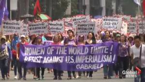 International Women's Day marches turn into protests outside U.S. embassy in Philippines
