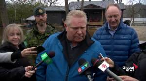 'We have their backs': Ford says they'll support Ontarians as flooding hits communities