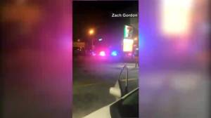 Cellphone video captures a barrage of bullets being fired during Orlando nightclub shooting