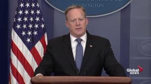 Sean Spicer explains why President Trump tweeted about Nordstrom but not Quebec City