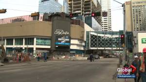 Downtown Edmonton intersection to close for weeks amid LRT construction