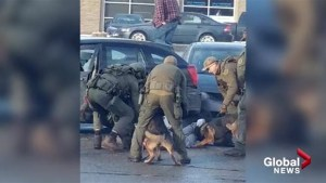 Witness captures Kelowna RCMP action following shooting on Wednesday