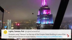 Rapper Eminem performs 'Venom' atop Empire State Building