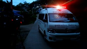 First members of Thai soccer team emerge from cave, taken to hospital
