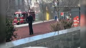 Underground explosions send manhole covers flying in Boston