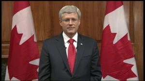 Prime Minister Harper addresses the nation following attack in Ottawa