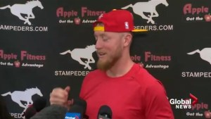 Calgary Stampeders Quarterback Bo-Levi Mitchell prepares for Grey Cup