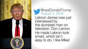 First Lady Melania Trump praises LeBron James after Donald Trump insults him