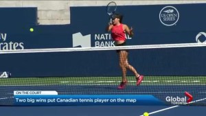 Rising tennis star fuels Canadian hopes after two big wins