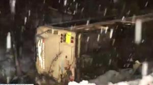 29 hospitalized after crash on treacherous B.C. highway