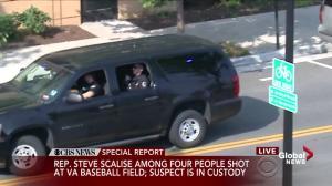Senator Jeff Flake describes chaos following shooting at baseball diamond in Virginia