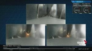SpaceX Heavy Falcon successfully sheds rocket boosters