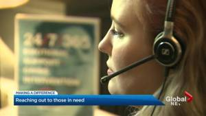 Toronto volunteer crisis line responder helping those struggling to find path forward