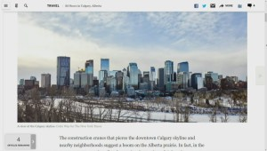International press puts Calgary on the map for U.S. tourists