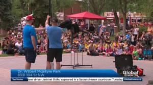 Edmonton International Street Performers Festival kicks off at new location