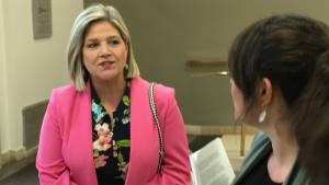 Ontario NDP leader Andrea Horwath discusses opioid crisis in Peterborough