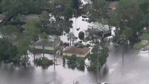 Homes flooded in central Florida after being hit from Hurricane Irma