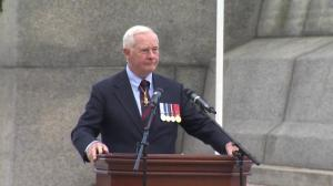 Governor-General David Johnston speaks at memorial ceremony in Ottawa