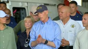 Florida governor praises President, Vice-President for Irma response