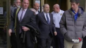 Harvey Weinstein leaves court after sex assault case not dismissed