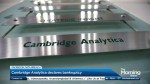 Cambridge Analytica declares bankruptcy