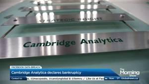 Cambridge Analytica declares bankruptcy