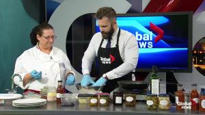 Global Edmonton Kitchen: Delight Catering's blueberry bbq bison meatballs (1/3)